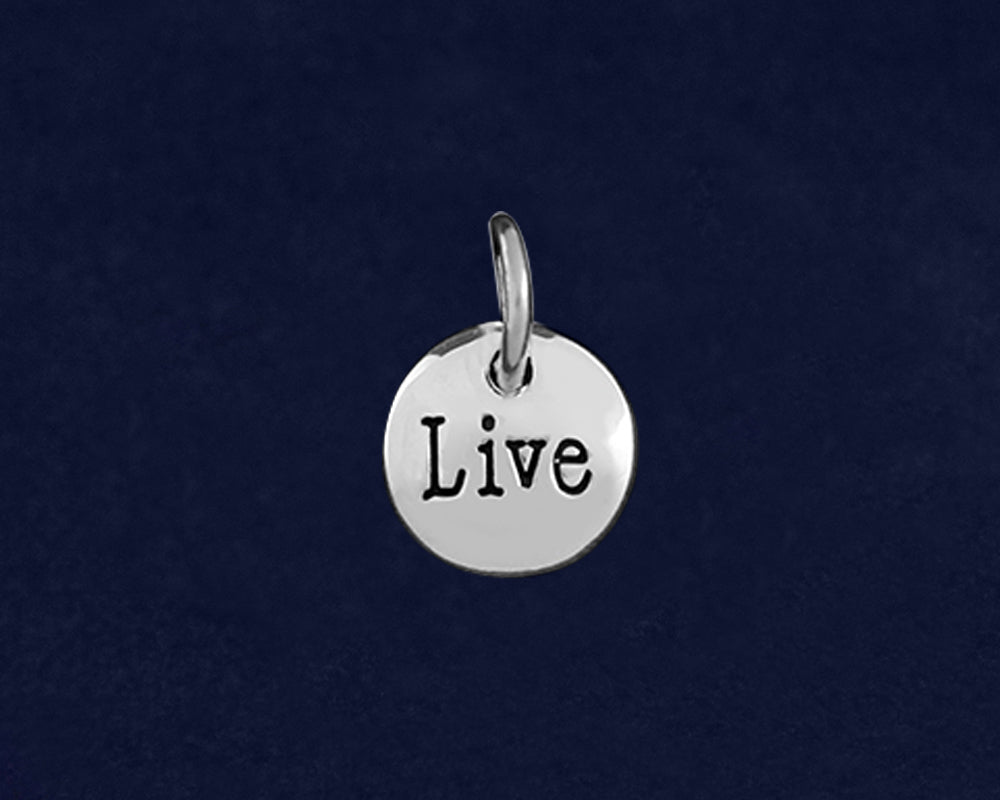 Silver Live Circle Charms - Fundraising For A Cause