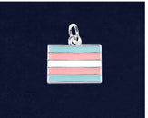 25 Rectangle Transgender Charms (25 Pride Charms)