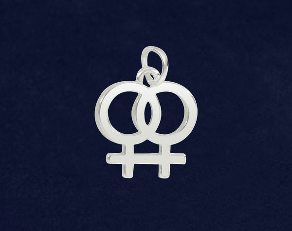 25 Lesbian Same Sex Female Symbol Charms (25 Pride Pins)