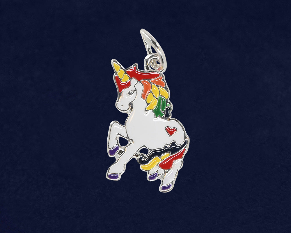 Rainbow Unicorn LGBTQ Charms