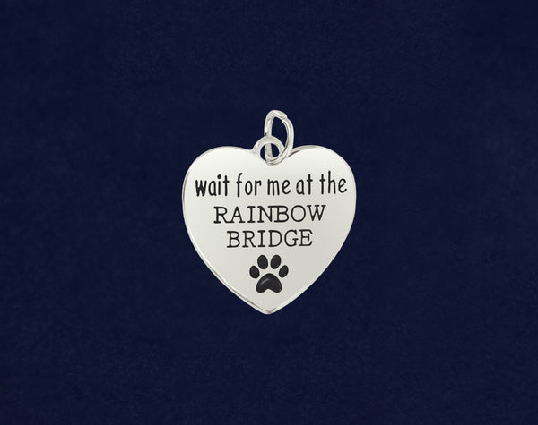 25 Wait For Me At The Rainbow Bridge Charms (25 Charms)