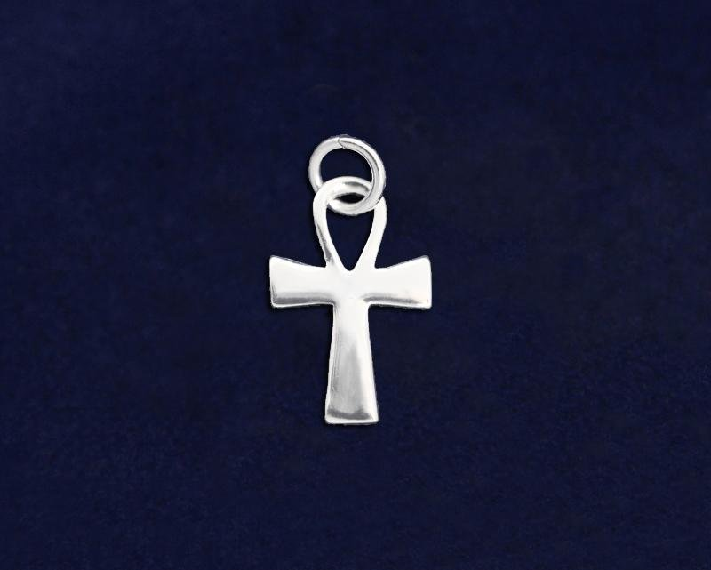 Decorative Silver Cross Charm - Fundraising For A Cause