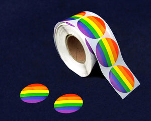 500 Circle Rainbow Stickers (500 Stickers)