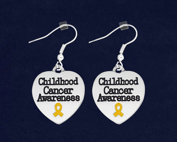 12 Childhood Cancer Awareness Heart Earrings (12 Pairs)