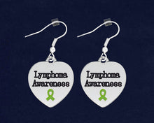 Load image into Gallery viewer, Lymphoma Awareness Heart Earrings - Fundraising For A Cause