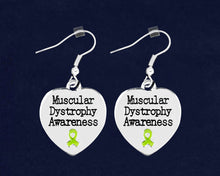 Load image into Gallery viewer, Muscular Dystrophy Awareness Heart Earrings - Fundraising For A Cause