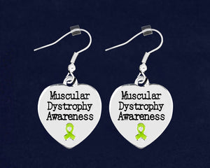 Muscular Dystrophy Awareness Heart Earrings - Fundraising For A Cause