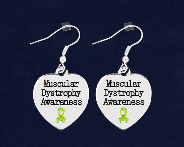 12 Muscular Dystrophy Awareness Heart Earrings (12 Pairs)