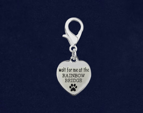 25 Wait For Me At The Rainbow Bridge Hanging Charms (25 Charms)