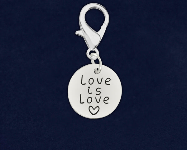 25 Love Is Love Circle Hanging Charms (25 Pride Charms)
