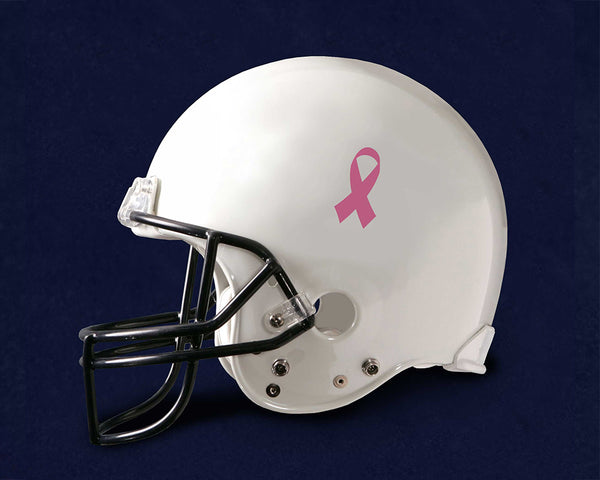 25 Pink Ribbon Awareness Football Helmet Decals (25 Decals) - fundraisingforacausecom