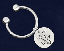 Load image into Gallery viewer, Love Is Love Circle Charm Key Chains