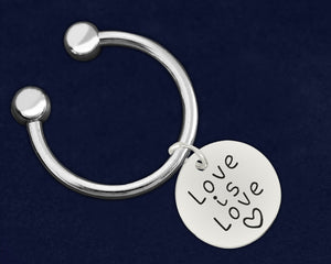 Love Is Love Circle Charm Key Chains