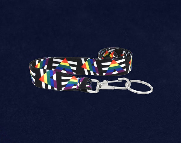 25 Straight Ally Allies LGBTQ Gay Pride Flag Lanyards (25 Lanyards)
