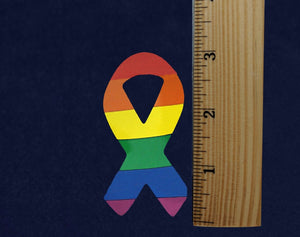 Large Rainbow Ribbon Stickers (250 Stickers) - Fundraising For A Cause