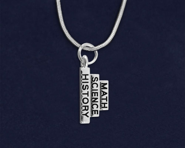 12 Math Science History Necklaces (12 Necklaces)