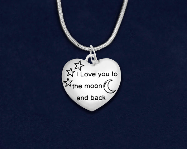 12 I Love You To The Moon And Back Necklaces (12 Necklaces)