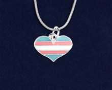 Load image into Gallery viewer, Transgender Heart Pride Necklaces - Fundraising For A Cause