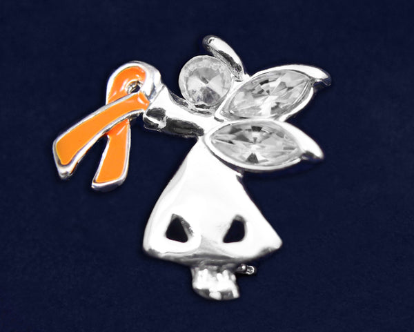 25 Angel By My Side Leukemia Ribbon Pins (25 Pins)