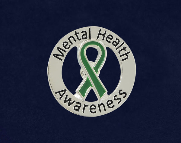 25 Round Mental Health Awareness Pins (25 Pins)