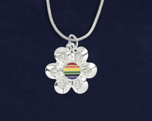 Rainbow Flower Necklaces - Fundraising For A Cause