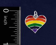 Load image into Gallery viewer, Rainbow Heart Gay Pride Key Chains - Fundraising For A Cause