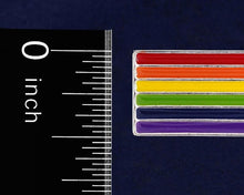 Load image into Gallery viewer, Rectangle Rainbow Pride Pins - Fundraising For A Cause
