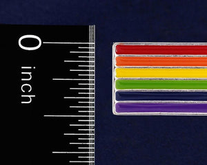 Rectangle Rainbow Pride Pins - Fundraising For A Cause