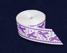 Load image into Gallery viewer, Satin Purple Awareness Ribbon By The Yard (10 Yard Spool) - Fundraising For A Cause