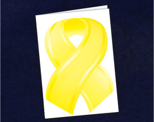 12 Small Yellow Ribbon Note Cards (12 Cards)