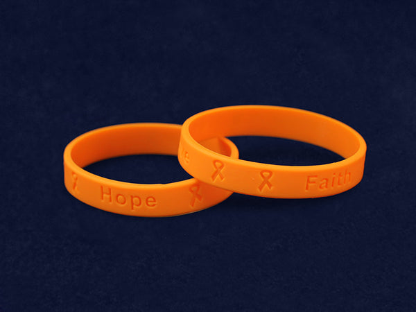 50 Adult Gun Violence/Mass Shooting Orange Silicone Bracelets (50 Bracelets)