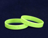 50 Child Lime Green Awareness Silicone Bracelets (50 Bracelets)