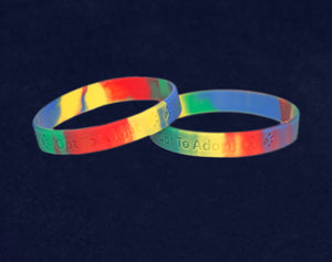 Rainbow Opt To Adopt Silicone Bracelets - Adult - Fundraising For A Cause