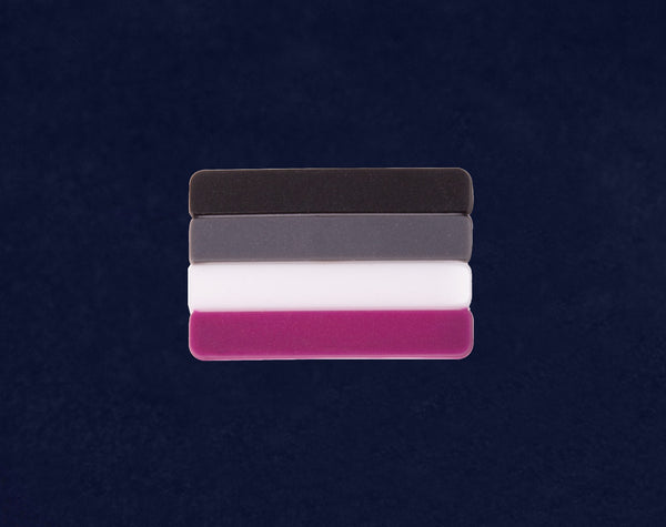 50 Asexual Striped Flag Silicone Pins (50 Pins)
