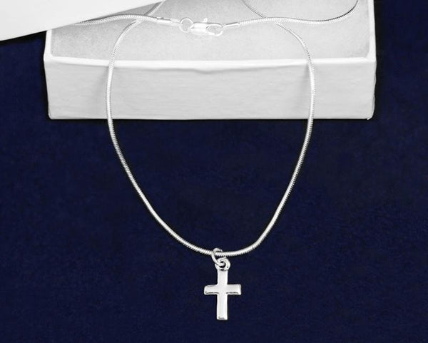 Silver Cross Necklace - Fundraising For A Cause