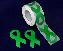 Load image into Gallery viewer, Large Green Ribbon Stickers - Fundraising For A Cause