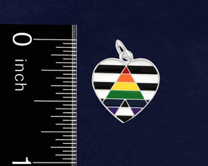 Straight Ally LGBTQ Pride Chunky Link Style Charm Bracelets - Fundraising For A Cause