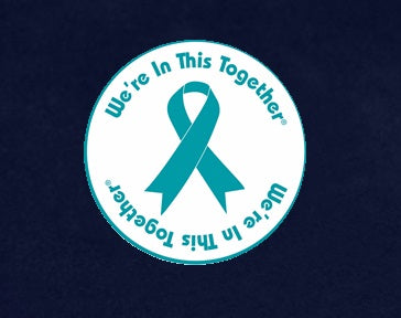 25 Teal Ribbon Car Window Decals (25 Decals)