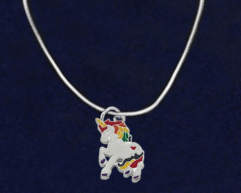 Rainbow Unicorn Necklaces