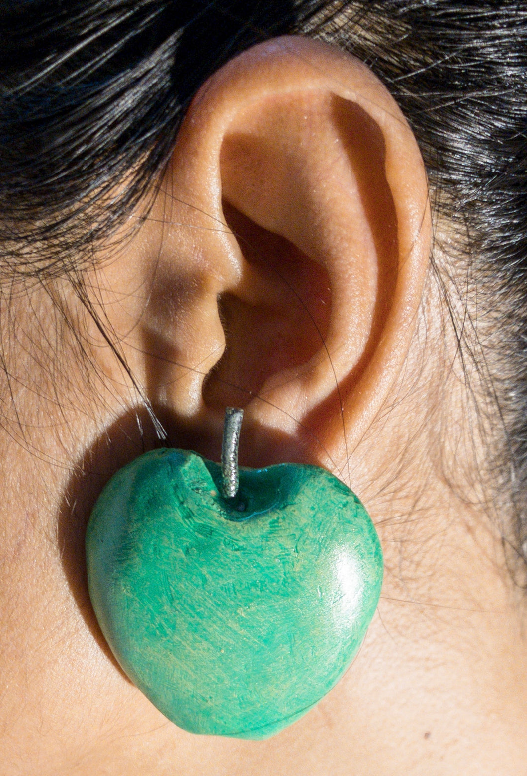Green Apple Ear-Rings