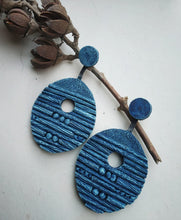 Load image into Gallery viewer, Aqua Mache Earrings