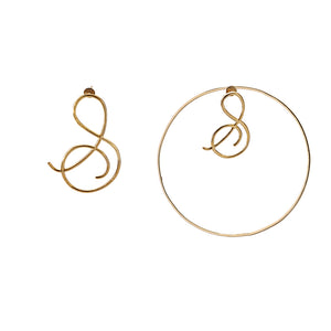 Initial Detachable Hoops