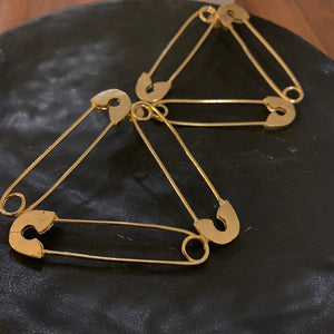 Pin It Up Triangle Ear Rings