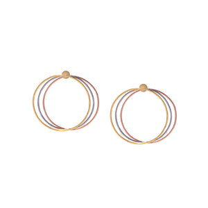 Tri Color Hoops Small