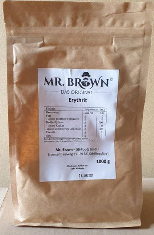 Mr. Brown - Erythrit 1000g