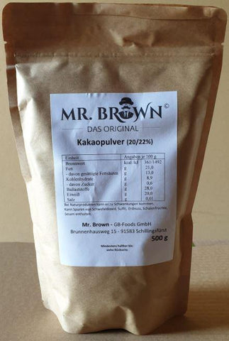 Mr. Brown - Kakaopulver (20/22%) 500g
