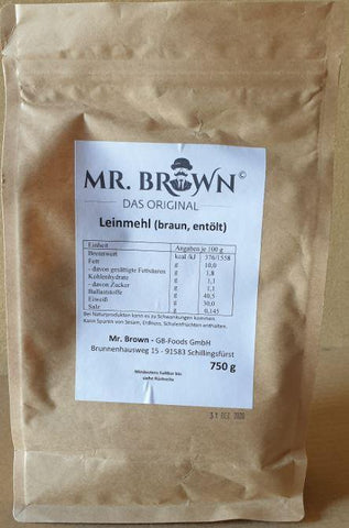 Mr. Brown - Leinmehl (braun, entölt) 750g