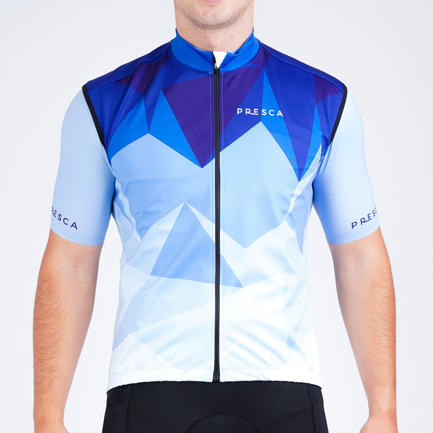Grand Tour Gilet Geo Blue Male