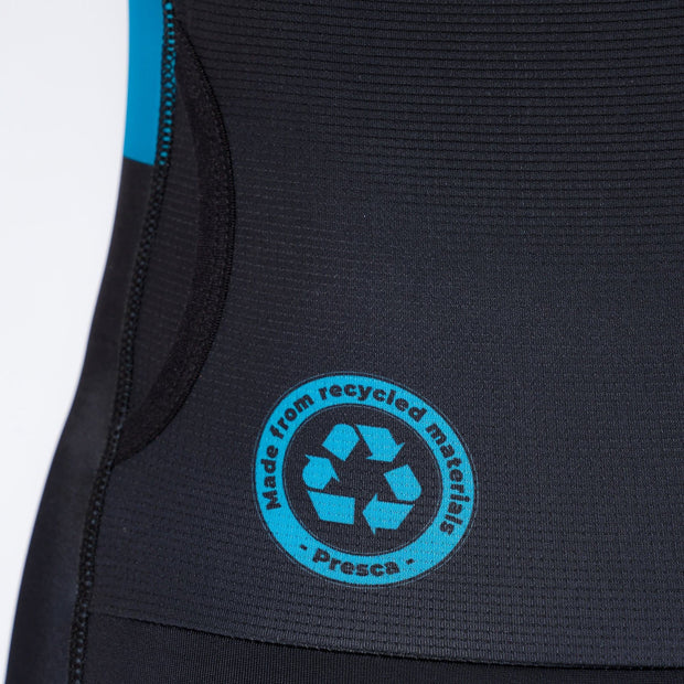 Navy Blue Geometric Sustainable Endurance Tri Suit Recycle Label