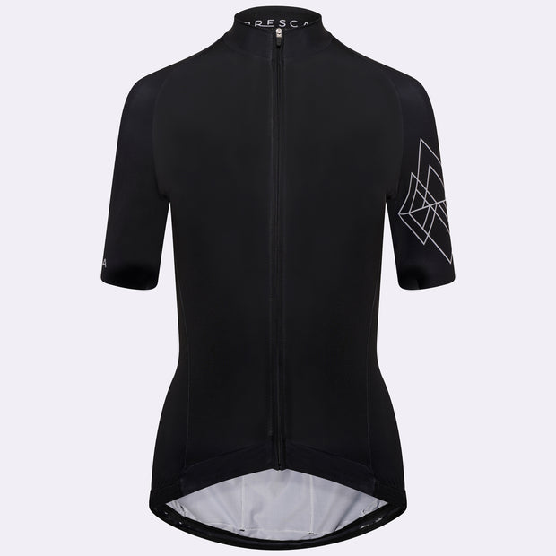 Grand Tour Short Sleeve Cycling Jersey Geo Female - Black Peak